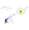 businessman looking binocular dollar coin business vector image vector image