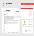 candle business letterhead envelope and visiting vector image vector image