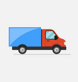 cargo truck flat icon vector image vector image