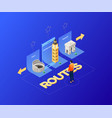 choose your route - modern colorful isometric vector image vector image