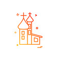 church christian holy cross icon design vector image