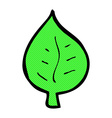 comic cartoon leaf symbol vector image vector image