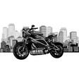 design city landscape with fast motorbike vector image