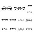 design of glasses and sunglasses sign vector image