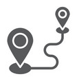 destination glyph icon gps and location map pin vector image vector image