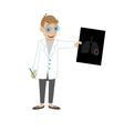 doctor looks at the x ray light vector image vector image