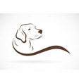 dog headlabrador on white background pet animals vector image vector image
