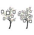 family tree with photo frames family tree vector image vector image