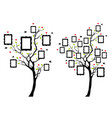 family tree with photo frames family tree with vector image vector image