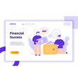 finance and business strategy web banner vector image