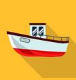 fishing ship icon flat style vector image