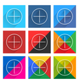 Flat popular social network web square icon vector image vector image