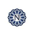 flower elegant icon initial n vector image