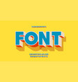 font 3d bold colorful style vector image vector image
