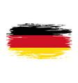 german flag brush grunge background vector image vector image