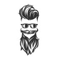 hairstyles with beard mustache sunglasses vector image