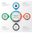 internet icons set collection of website page vector image