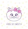 kitten sweet vector image vector image
