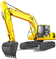 Large excavator vector | Price: 5 Credits (USD $5)