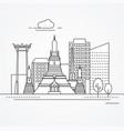 linear bangkok thailand vector image vector image