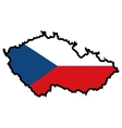 Map in colors of Czech Republic vector image vector image