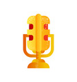 microphone golden music award vector image vector image