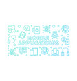 mobile applications blue in vector image