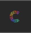 monogram letter c logo creative initial logotype vector image