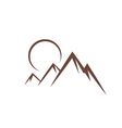 mountain sunset symbol vector image vector image