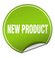 new product round green sticker isolated on white vector image vector image