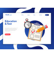 online test and education vector image