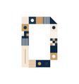 pixel art letter d colorful letter consist vector image vector image