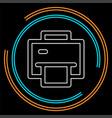 printer icon - print symbol - print paper vector image