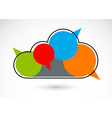 public discussion and brainstorming concept shown vector image vector image