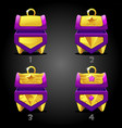 rating purple treasure chests for game vector image vector image