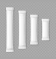realistic detailed 3d matte sachet stick set vector image vector image