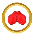 Red boxing gloves icon vector image