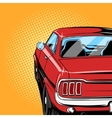 red car comic book style vector image