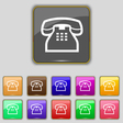 retro telephone handset icon sign Set with eleven vector image