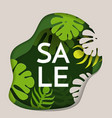 sale promotional poster with thick rainforest vector image vector image