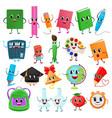 school supplies kawaii schooling tools vector image vector image