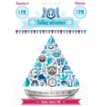 Sea summer travel banner invitation design with vector image vector image