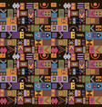 seamless pattern vintage tribal ethnic ornament vector image vector image