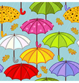 seamless pattern with umbrella vector image vector image