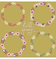 set floral frame beautiful collection of vector image vector image