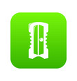 sharpener icon green vector image vector image