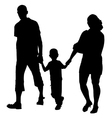 silhouette of couples with baby vector image vector image