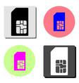 sim card flat icon vector image