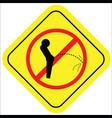 symbol no prohibited urinating isolated on white vector image