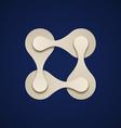 teamwork square chain paper emblem vector image vector image